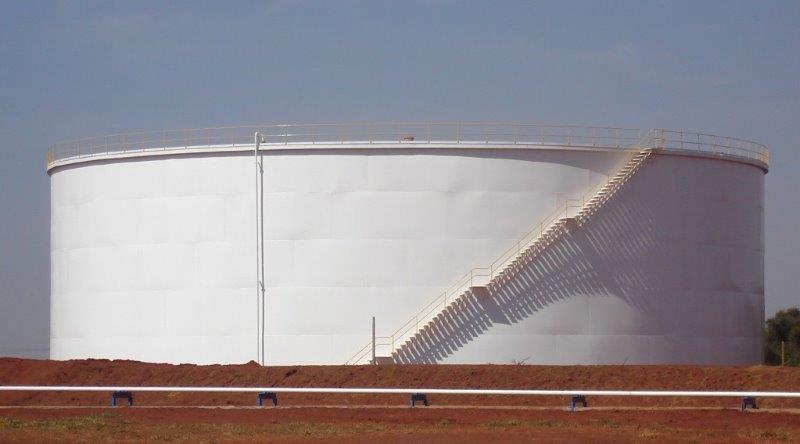 Fabricação de tanques de armazenamento